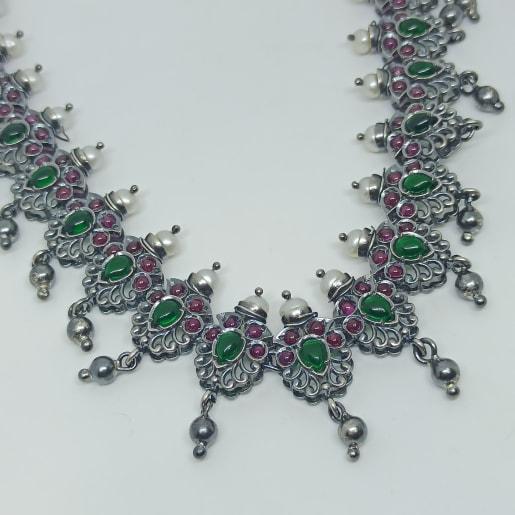 Tamanna Antique Silver Necklace