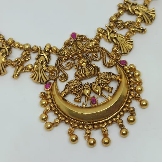 Lakshmi Chaand Antique Necklace