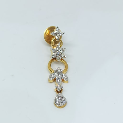 Floral Drop Diamond Earrings