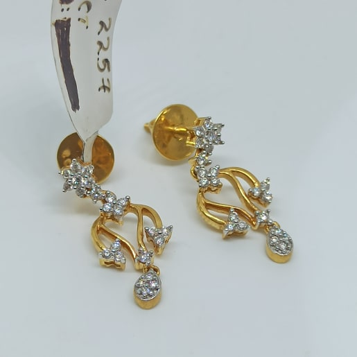 Usha Leaf Diamond Earrings