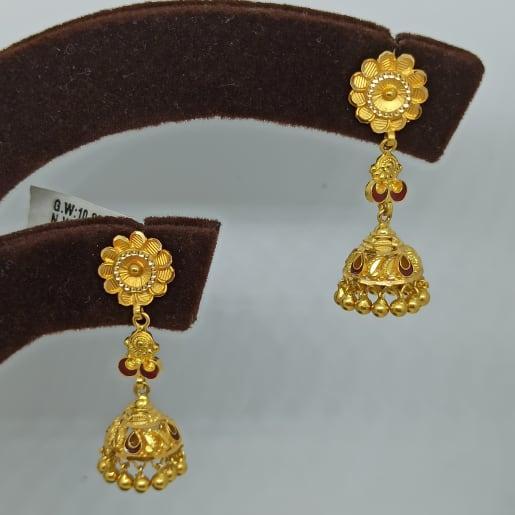 Floaral Drop Gold Earring