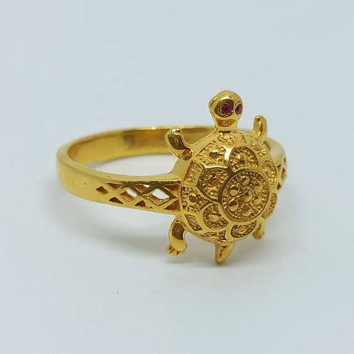 Tortoise Plain Gold Ring