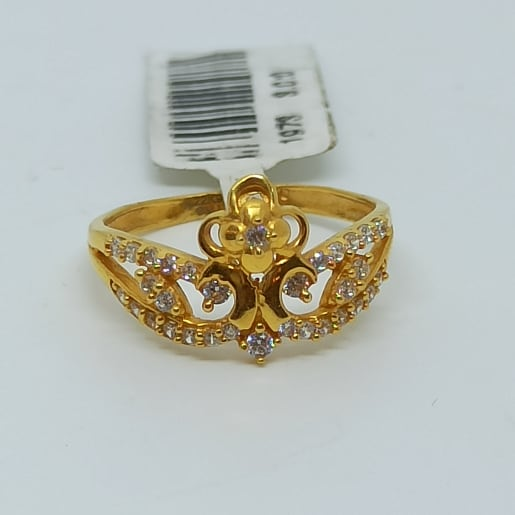 Flower Crown Cz Ring