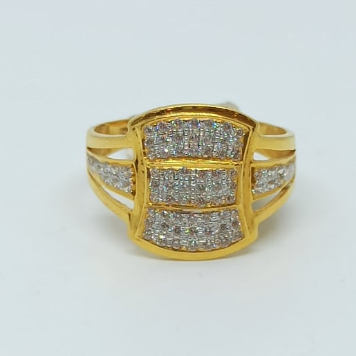 3 Lines Cz Ring