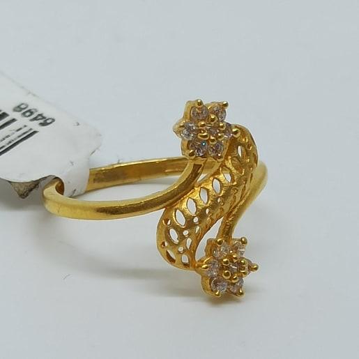 Cz Jali Ring For Women
