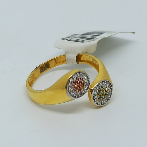 Colostone Round Cz Ring