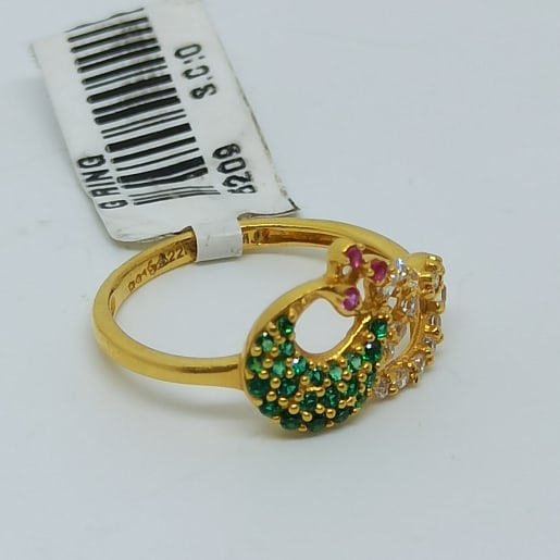 Peacock Colorstone Cz Ring 2