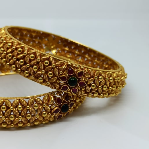 Antique Leaf Traditional Bangles