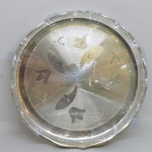 Plain Silver Designer Dish