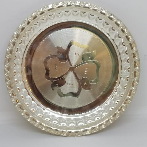 Round Designer Silver Dish