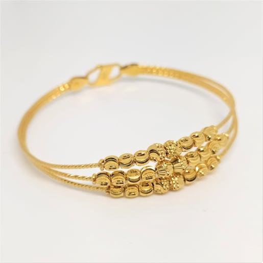 Plain Gold Bead Kada