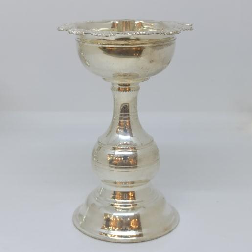 Lotus Plain Silver Long Deepa