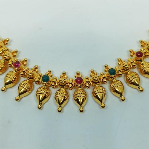 Drop Plain Gold Necklace