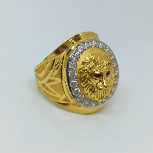 Lion Face Cz Ring