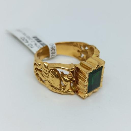 Emerald Cz Antique Ring
