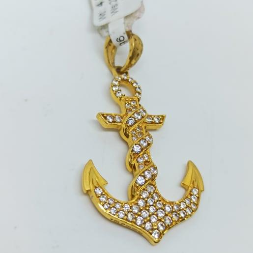 Anchor Cz Pendant