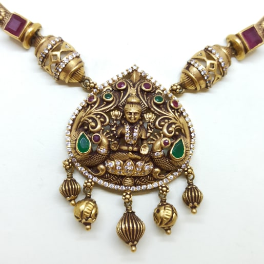 Lakshmi Cz Antique Necklace