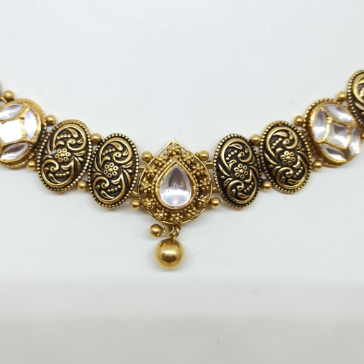 Oval Link Kundan Necklace
