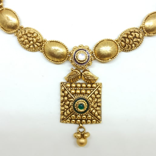 Square Bead Antique Neckalce