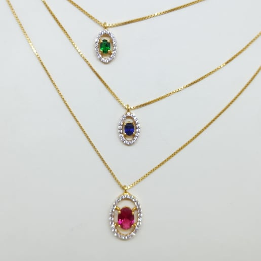 3 Line Cz Chain Necklace