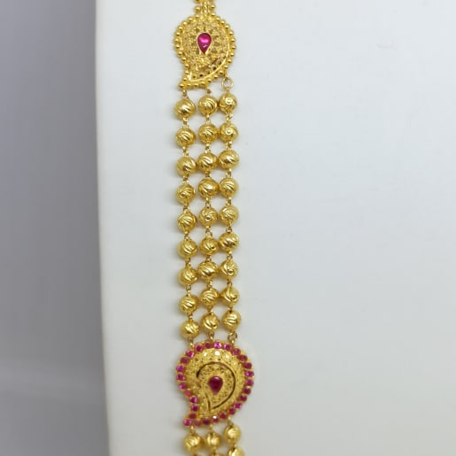 3 Line Gundu Necklace
