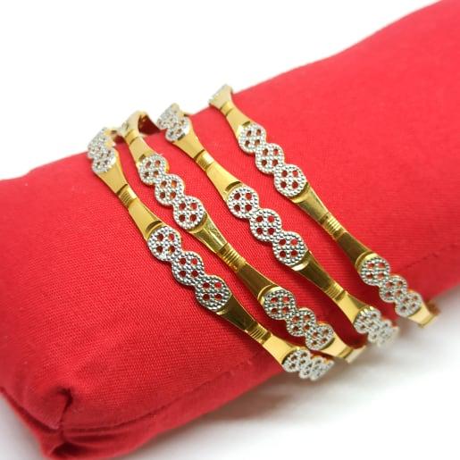 Amrutha Plain Gold Bangles