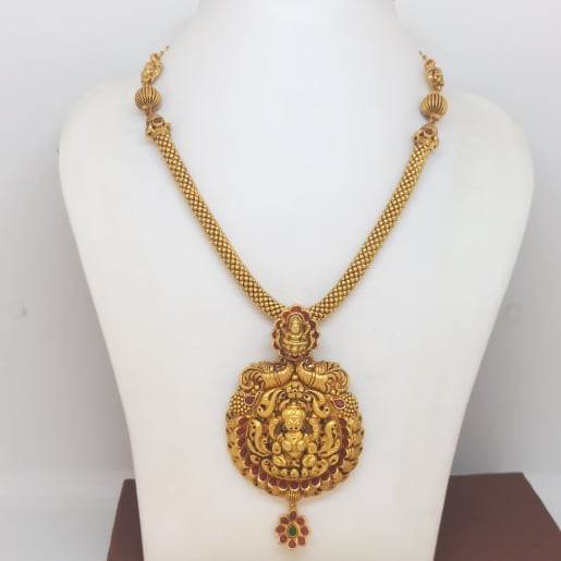 Lakshmi Antique Gold Necklace