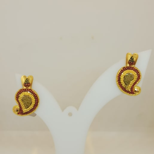 Red Stone Mango Earring