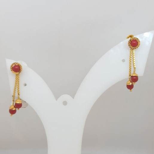 Red Stone Hanging Earring