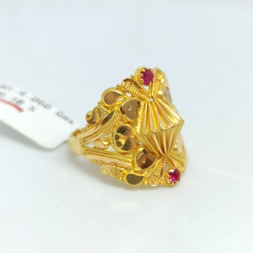 Traditional Heart Cz Ring