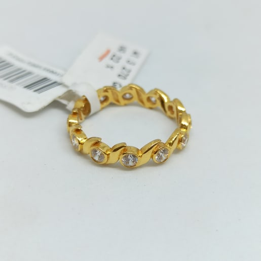 Waves Cz Band Ring