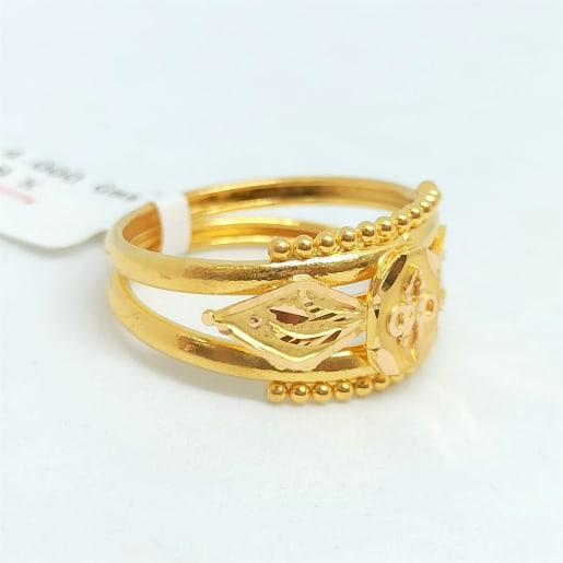 Plain Gold Cut Ring