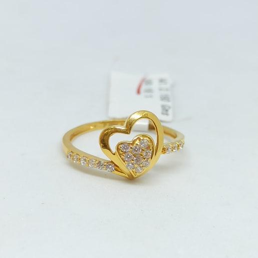 Heart Shape Cz Ring