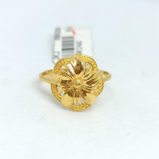 Jasmin Plain Gold Ring