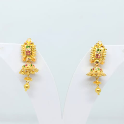 Colourstone Cz Designer Earrings