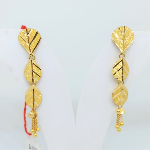 Plain Gold Leaf Earrings