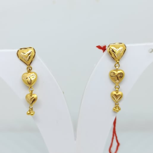 Heart Drop Earrings 2