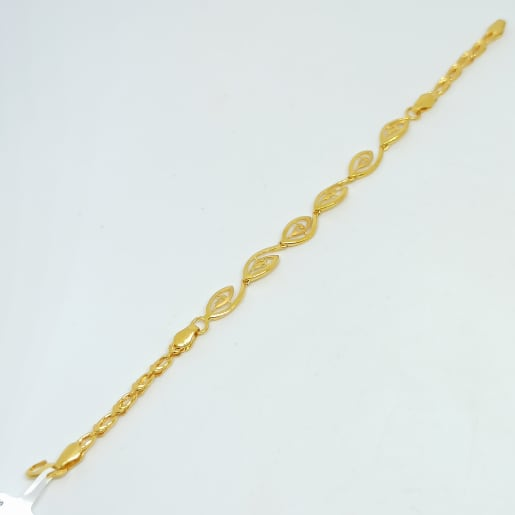 Leaf Plain Gold Bracelets