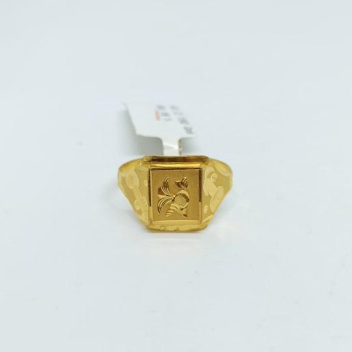 Plain Gold Cnc Ring