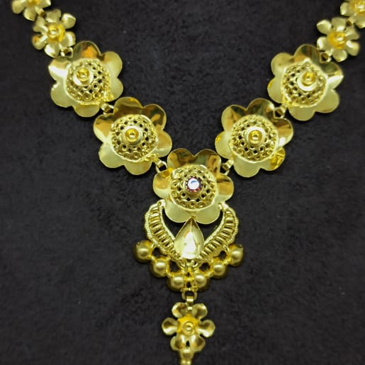 Flower Jali Link Necklace