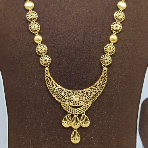 Tanishka Plain Gold Jali Haram