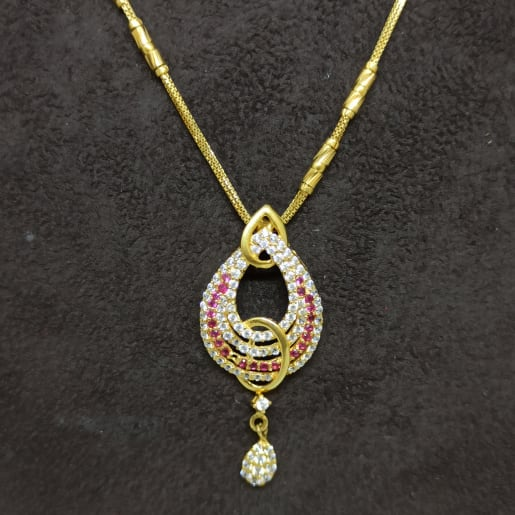 Colorstone Cz Chain Necklace