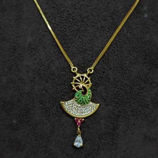 Peacock Cz Chain Necklace