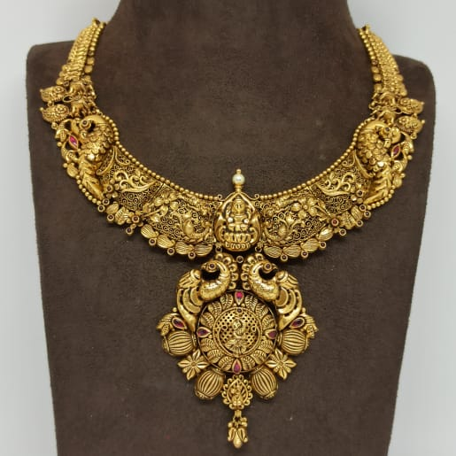 Lakshmi Floral Antique Necklace