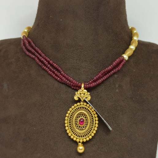 Jali Designer Moti Necklace
