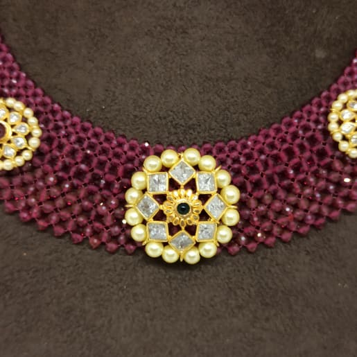 Moti Chadar Kundan Necklace