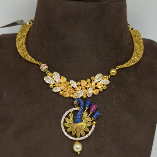 Peacock Cz Necklace Earrings Set