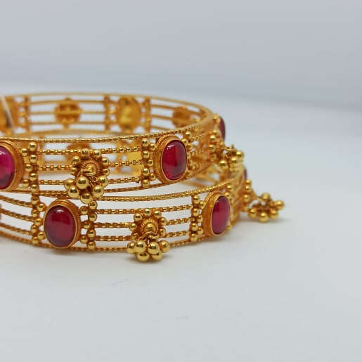 Oval Stone Antique Bangles
