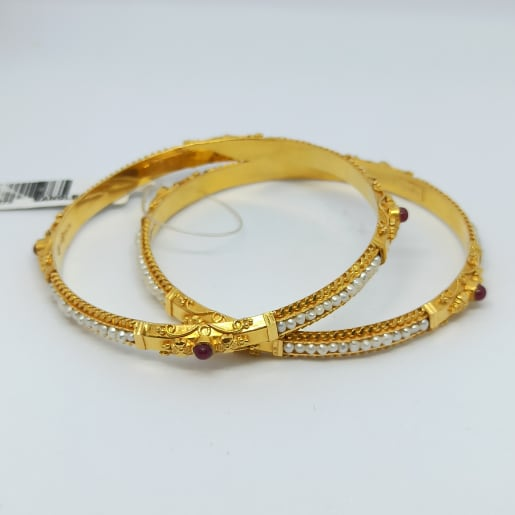 White Moti Traditional Bangles