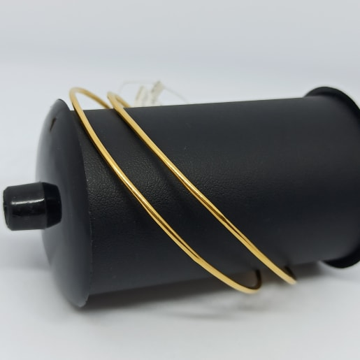 Round Pipe Gold Bangles
